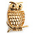 Gold-Tone Wise Filigree Owl Brooch - view 7