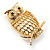 Gold-Tone Wise Filigree Owl Brooch - view 4