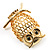 Gold-Tone Wise Filigree Owl Brooch - view 6