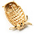 Gold-Tone Wise Filigree Owl Brooch - view 5