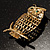 Gold-Tone Wise Filigree Owl Brooch - view 3