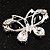 Small CZ Butterfly Brooch (Silver&Jet Black) - view 5
