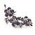Swarovski Crystal Floral Brooch (Silver&Lilac) - view 3