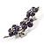 Swarovski Crystal Floral Brooch (Silver&Lilac) - view 5