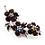 Swarovski Crystal Floral Brooch (Silver&Purple)