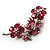 Swarovski Crystal Floral Brooch (Silver&Pink) - view 3