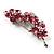 Swarovski Crystal Floral Brooch (Silver&Pink) - view 4