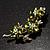 Swarovski Crystal Floral Brooch (Silver&Olive Green) - view 3