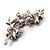 Swarovski Crystal Floral Brooch (Silver&Dim Grey) - view 4