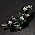 Swarovski Crystal Floral Brooch (Silver&Emerald Green) - view 3