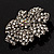 Clear Crystal Corsage Flower Brooch (Silver Tone) - view 5