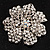 Clear Crystal Corsage Flower Brooch (Silver Tone) - view 1