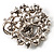 Black & White Diamante Corsage Brooch (Silver Tone) - view 7