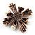 Precious Heirloom Imitation Pearl Cross Brooch (Copper Tone) - view 2