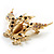 Stunning Crystal Owl Brooch (Gold Tone) - view 6