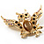 Stunning Crystal Owl Brooch (Gold Tone) - view 8