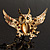 Stunning Crystal Owl Brooch (Gold Tone) - view 3