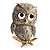 Cute Baby Owl Brooch (Gold&Silver Tone) - view 1