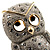 Cute Baby Owl Brooch (Gold&Silver Tone) - view 3