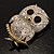 Cute Baby Owl Brooch (Gold&Silver Tone) - view 4