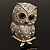 Cute Baby Owl Brooch (Gold&Silver Tone) - view 2