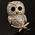 Cute Baby Owl Brooch (Gold&Silver Tone) - view 5
