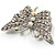 Diamante Filigree Butterfly Pin (Silver Tone) - view 7