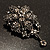 Chic Black Swarovski Crystal Charm Brooch (Black Tone) - view 8