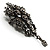 Chic Black Swarovski Crystal Charm Brooch (Black Tone) - view 9