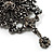 Chic Black Swarovski Crystal Charm Brooch (Black Tone) - view 3