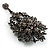 Chic Black Swarovski Crystal Charm Brooch (Black Tone) - view 4