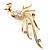 Stunning CZ Firebird Brooch (Gold Tone)