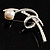 Silver Tone Imitation Pearl Floral Brooch - view 5