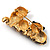 'Adorable Kittens' Fashion Brooch (Gold Tone) - view 6