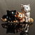 'Adorable Kittens' Fashion Brooch (Gold Tone) - view 2