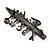 'Teacher' Charm Brooch (Gun Metal Finish) - view 5
