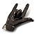 Gun Metal 'Rock & Roll' Brooch - 70mm L - view 2