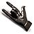 Gun Metal 'Rock & Roll' Brooch - 70mm L - view 3