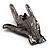 Gun Metal 'Rock & Roll' Brooch - 70mm L - view 5