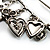Key, Lock And Heart Locket Charm Safety Pin Brooch (Silver Tone) - view 6