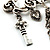 'Love', Key, Lock, Heart And Tassel Safety Pin Brooch (Antique Silver Tone) - view 4