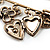Key, Lock And Heart Locket Charm Safety Pin Brooch (Burn Gold Finish) - view 7