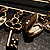 Key, Lock And Heart Locket Charm Safety Pin Brooch (Burn Gold Finish) - view 4