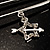 Crystal Key, Star And Heart Charm Safety Pin Brooch (Silver Tone) - view 7