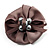 Light Grey Fabric Imitation Pearl Flower Brooch - view 2