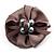 Light Grey Fabric Imitation Pearl Flower Brooch - view 2