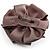 Light Grey Fabric Imitation Pearl Flower Brooch - view 7