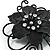Black Crystal Filigree Flower And Butterfly Crystal Brooch (Catwalk - 2011) - view 3