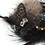 'Fluffy Paradise' Hair Clip/ Brooch (Black & White) - Catwalk 2014 - view 4