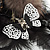 'Fluffy Paradise' Hair Clip/ Brooch (Black & White) - Catwalk 2014 - view 5